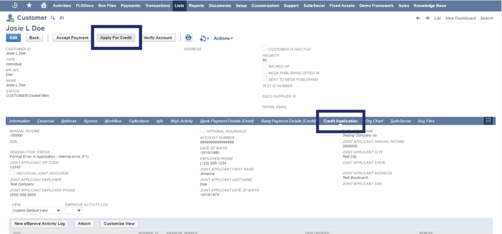 NetSuite bank integration