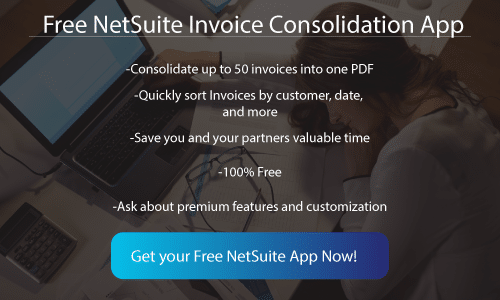 NetSuite consolidated Invoicing