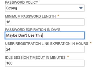NetSuite Password Settings