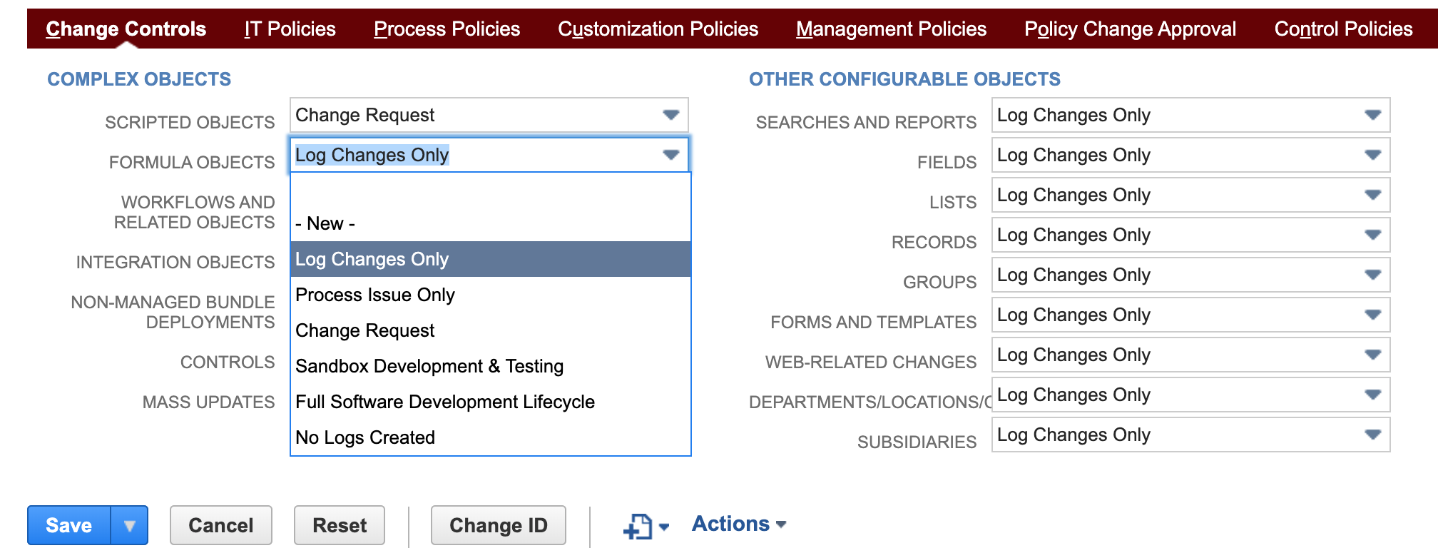 NetSuite Strongpoint Approval Policy list