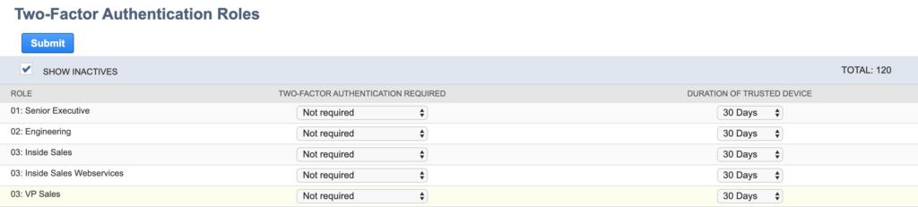 NetSuite Customer Login 2FA Settings