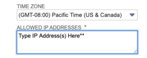 IP Access Input