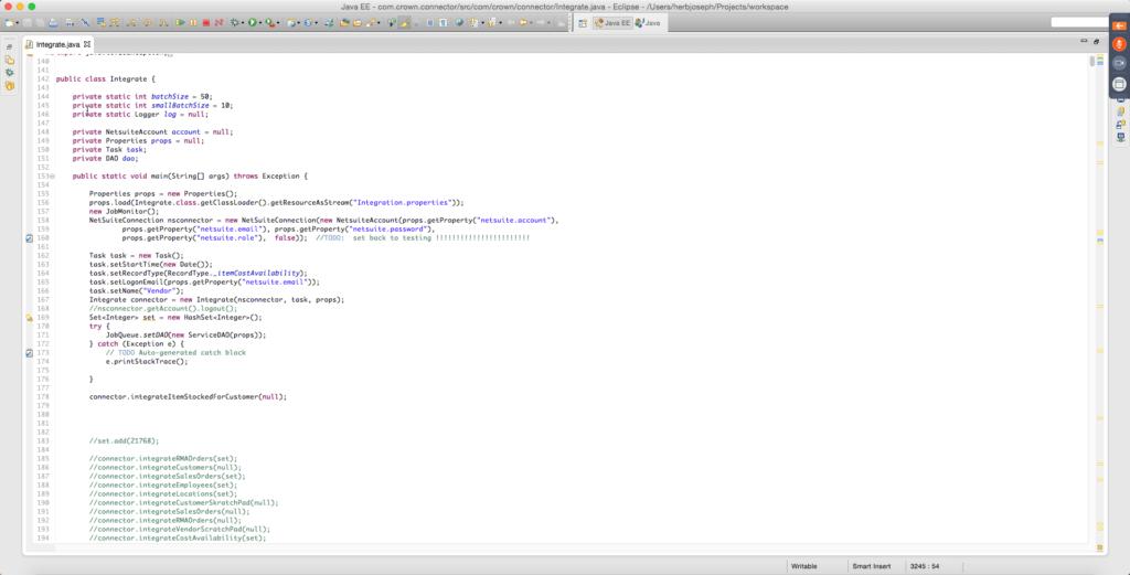 Scratch NetSuite integration